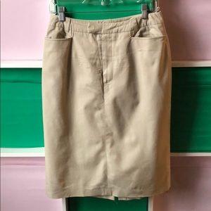 Barney's New York khaki pencil skirt